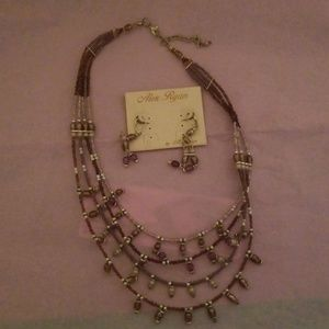 Beautiful brand new necklace with earrings